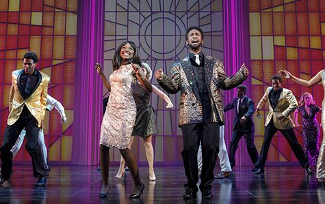 Loren Lott as CeCe Winans (center left) and Donald Webber Jr. as BeBe Winans (center right) in