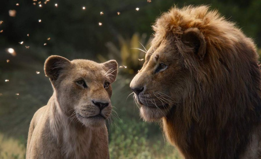 "Nala (voiced by Beyoncé) and Simba (Donald Glover) star in the remake of ""The Lion King""."