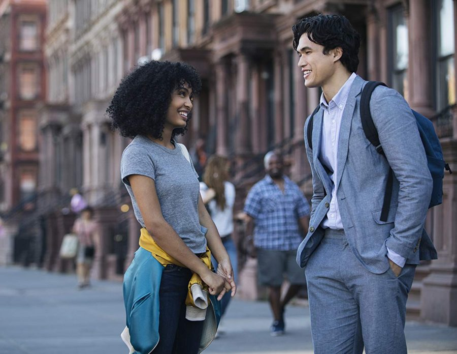 "Yara Shahidi (left) and Charles Melton star in in ""The Sun Is Also a Star""."