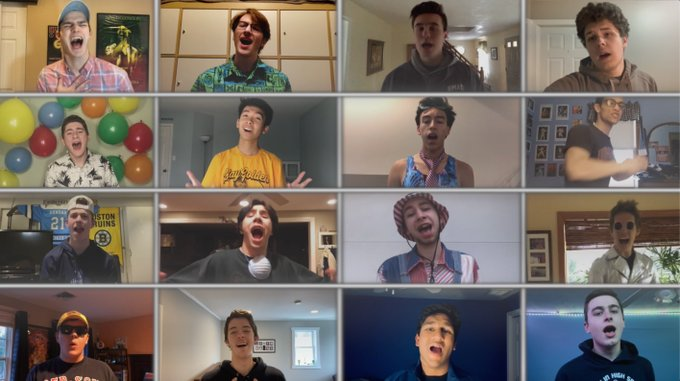 Senior boys at Franklin (Mass.) High earned viral status with their video performance of