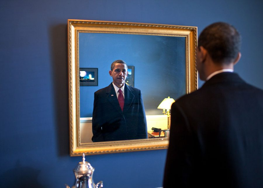 "Photographer Pete Souza caught Barack Obama minutes before taking the oath to become the 44th President of the United States of America on Jan. 20, 2009, as captured in the documentary ""The Way I See It."""