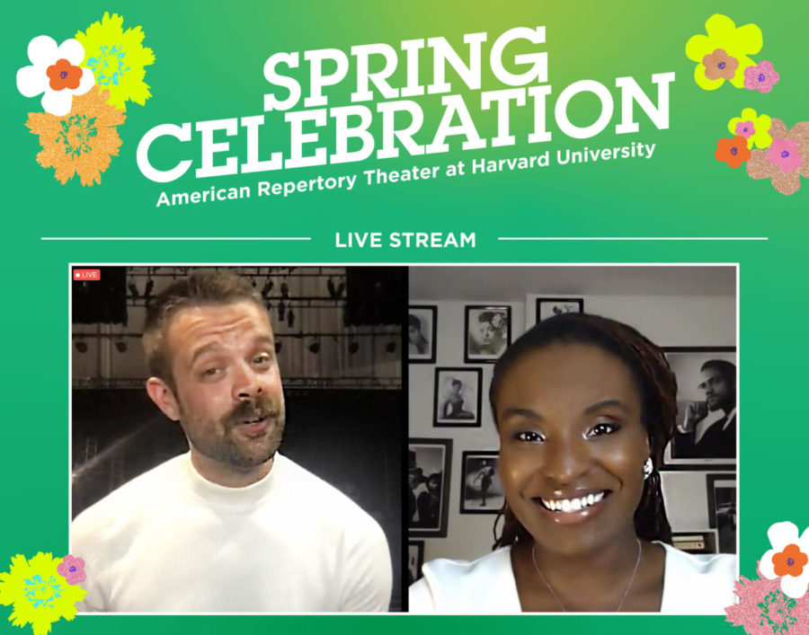 Mark Lunsford (left) and Brittney Mack served as co-hosts for the Spring Celebration put on by the American Repertory Theater on June 5, 2021.