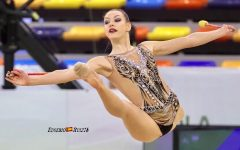 Rhythmic gymnast Evita Griskenas will be competing in St. Louis this week at the US Olympic trials.