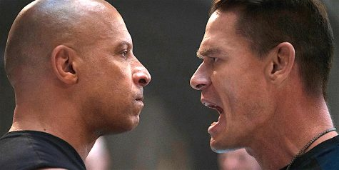 """Vin Diesel (left) goes face-to-face with John Cena, who plays his long-lost brother in """"F9: The Fast Saga."""""""