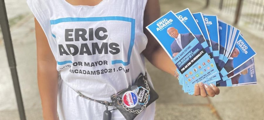 Supporters of mayoral candidate Eric Adams tried to reach New York City voters however they could for the Democratic primary on June 22, 2021.