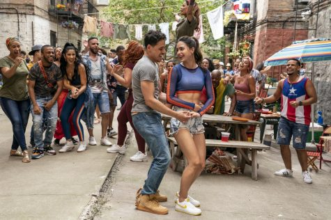 """The relationship between Usnavi (Anthony Ramos, left) and Vanessa (Melissa Barrera) is at the heart of """"In the Heights."""""""